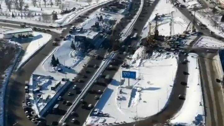 Уфимец снял на видео, как выглядит с высоты демонтированная развязка на Заки Валиди