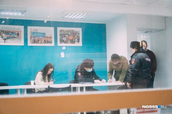 В штабе Навального полиция проводила осмотр более 2 часов