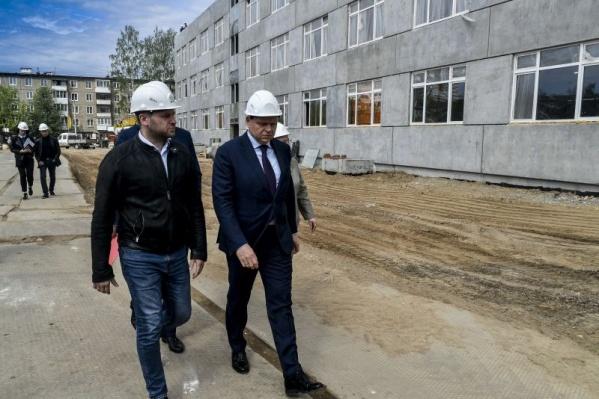 Алексей Дёмкин посетил стройку с рабочим визитом
