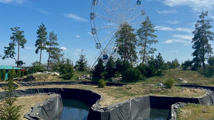 Наполним его за сутки: в ЦПКиО Волгограда готовят к открытию новый водный канал на 110 метров