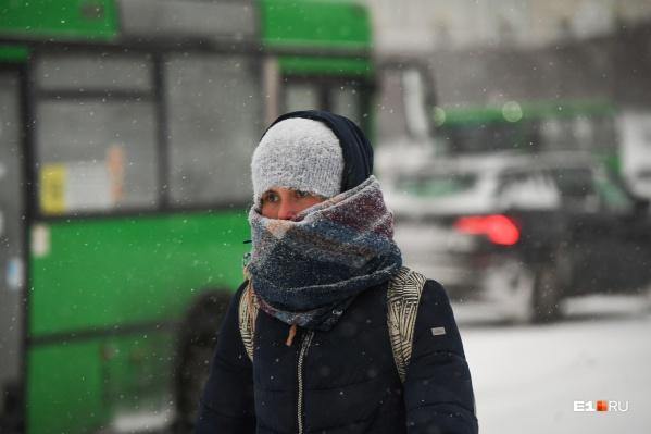 Уральцев ждет снег и мороз