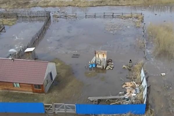 Затопленный Бугач в Красноярске