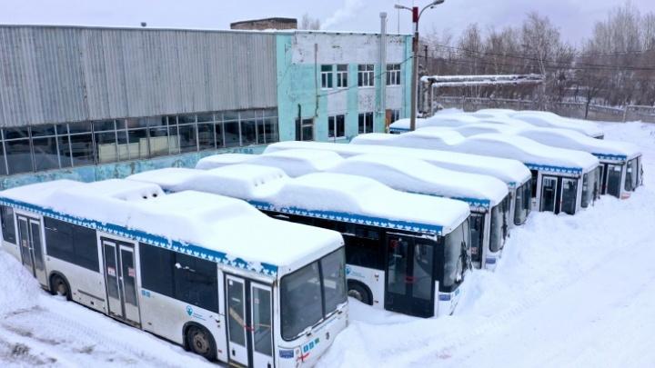В «Башавтотрансе» прокомментировали кладбище автобусов в Уфе