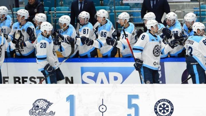 «Сибирь» обыграла казахский «Барыс» в выездном матче КХЛ