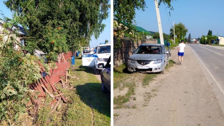 Пьяный водитель «Мазды» пошел на обгон в Новосибирской области — один человек погиб