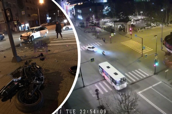 Авария произошла около одиннадцати вечера