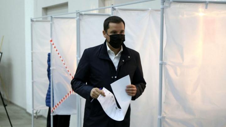 Губернатор Поморья Александр Цыбульский проголосовал на выборах в Госдуму РФ