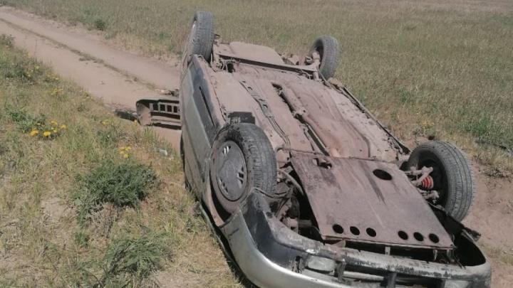 В Курганской области опрокинулся ВАЗ, его водитель погиб