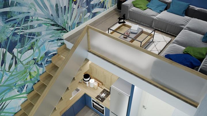 Студия в два этажа: в Екатеринбурге в продаже появилась необычная квартира