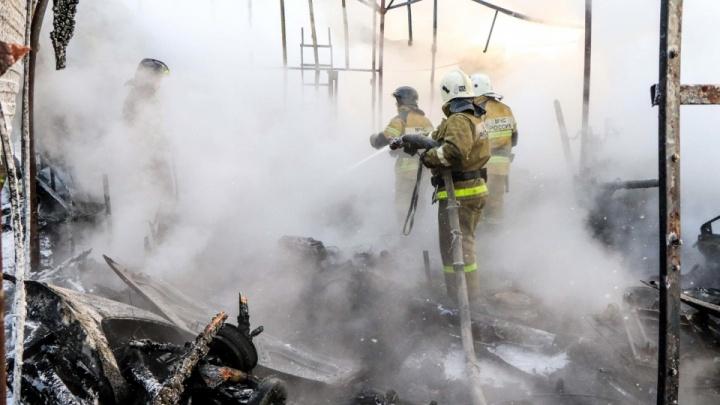 В Курганской области при пожаре в жилом доме погиб малолетний ребенок