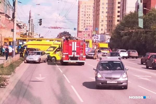 В салоне трамвая никто не пострадал