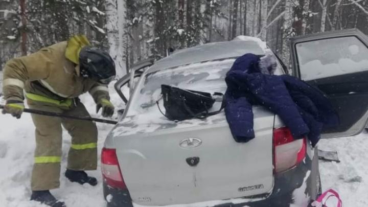 В смертельной аварии в Красноярском крае погибли 4 человека