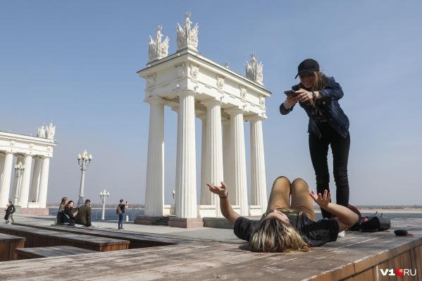 Весна в Волгограде уже вступила в свои права