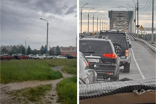 Пробка стоит не только на Ленинградском проспекте, но и на Краснофлотском мосту