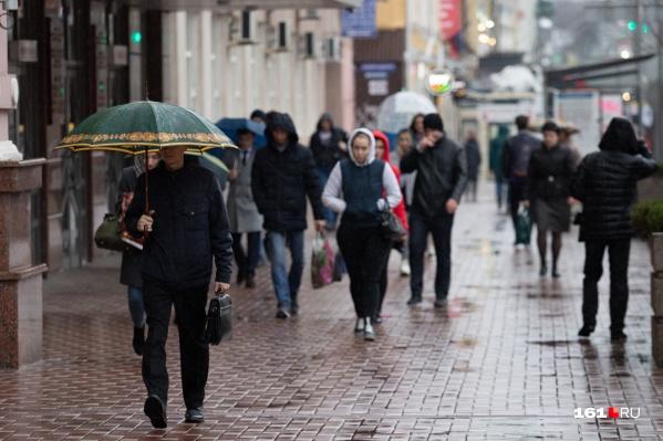 Почти всю неделю в Ростове будет идти дождь