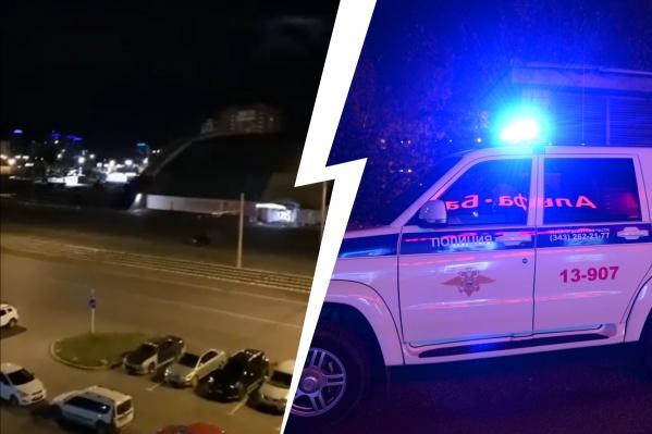 На парковку вызвали полицию