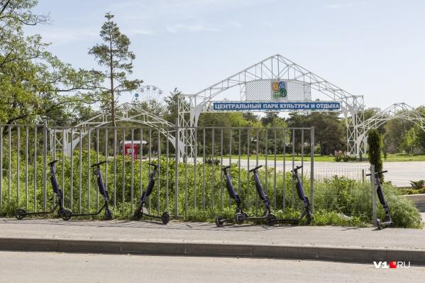 Администрация сочла самокаты у ЦПКиО нестационарными объектами