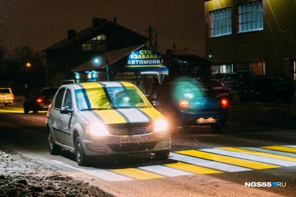 Проекционные «зебры», по мнению специалистов департамента транспорта, — один из методов уменьшения количества ДТП