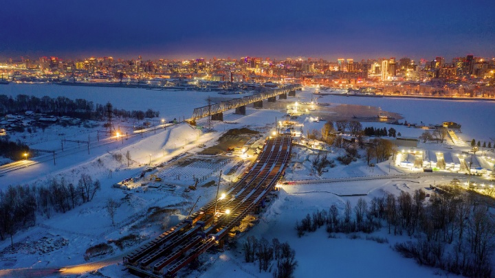 Слава Степанов сфотографировал строительство четвертого моста с высоты— показываем 10кадров