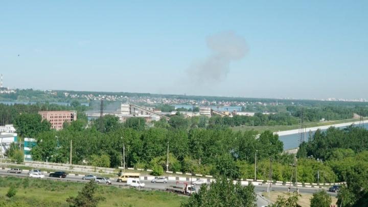 Гриб от взрыва в новосибирском цеху попал на фото очевидца