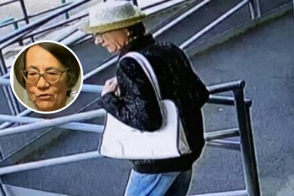 Женщину зафиксировали камеры видеонаблюдения