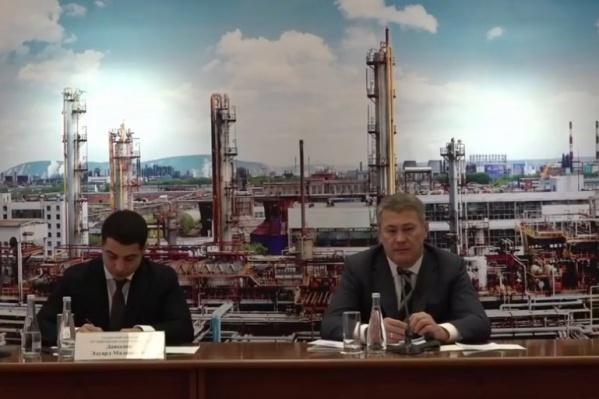 Радий Хабиров встретился с руководителем БСК