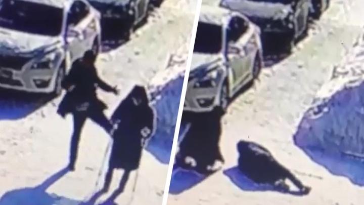 В Бердске пьяный прохожий несколько раз пнул 82-летнюю женщину на улице — она медленно шла