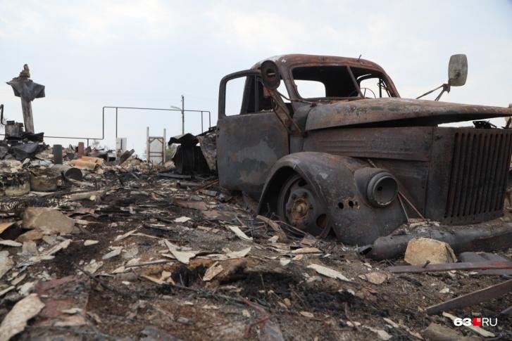 От домов в Гвардейцах осталось пепелище