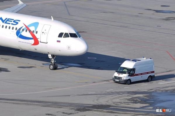 ЧП на борту самолета произошло накануне