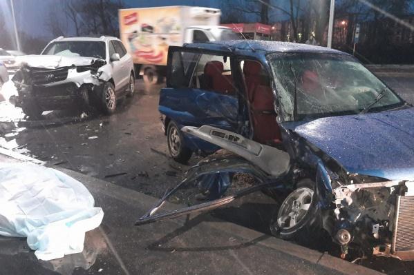 В ДТП пострадали три машины