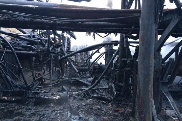 Насосная станция выгорела полностью
