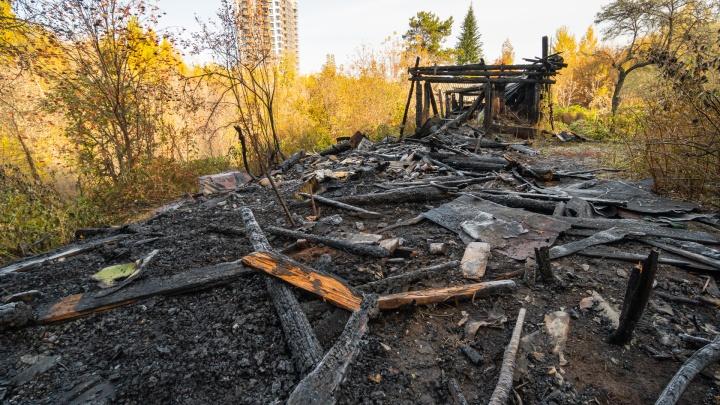 Публикуем фото последствий пожара в Саду соловьев