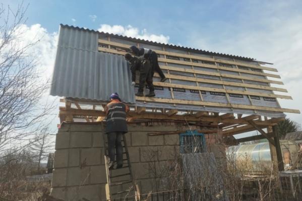 Бригада работала на крыше