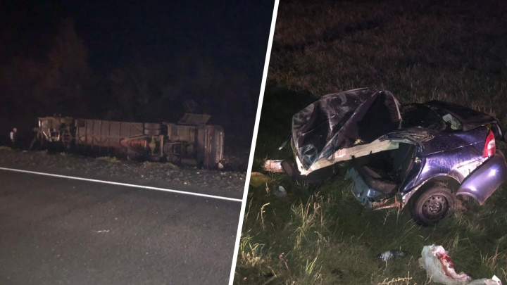 Появились фото с места ночной смертельной аварии на М-5