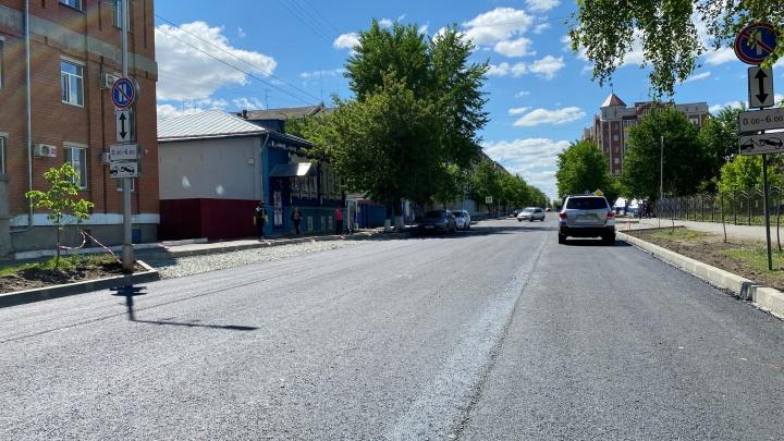 В Кургане ремонтируют дороги по улицам Кирова и Советской