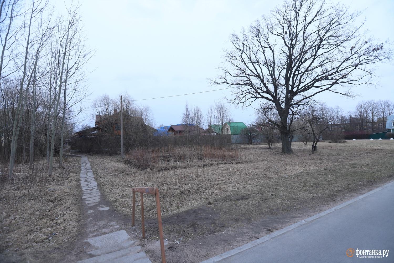 Заброшенный сквер между домами 79 и 101-А по Санкт-Петербургскому шоссе в Петродворцовом районе