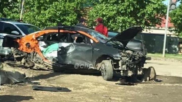 В Краснодаре водитель каршеринговой машины выехал на встречку, один человек погиб