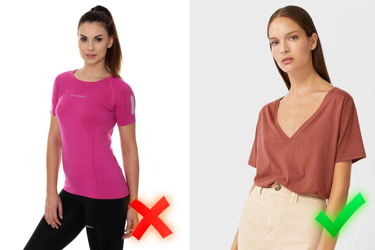 Спортивные футболки оставьте для спортзала и не переносите их в ежедневный гардероб