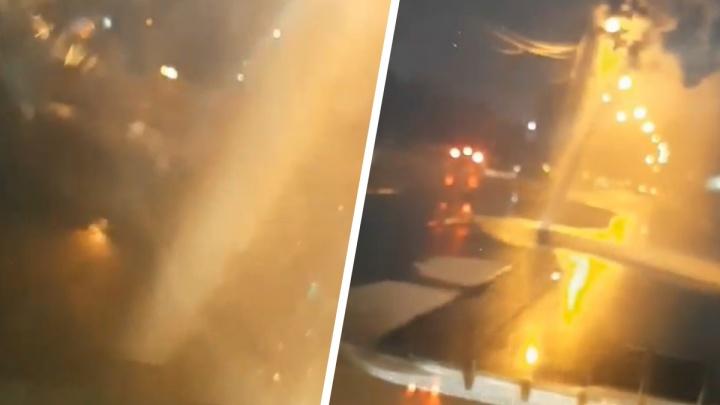 Фонтан из-под асфальта: появилось видео прорыва трубы на проспекте Карла Маркса