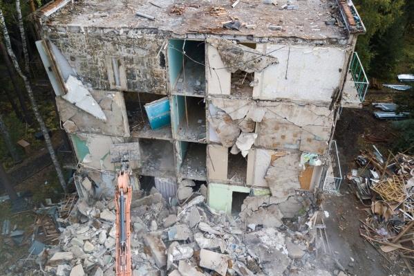 Общежитие начали сносить в сентябре 2021 года