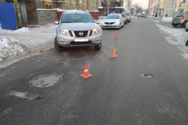Авария произошла накануне на одной из центральных улиц Кургана