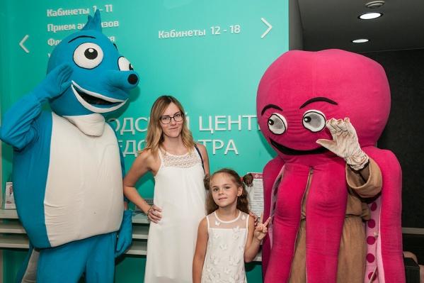 Детей в«Городском Центре Медосмотра» встречают аниматоры
