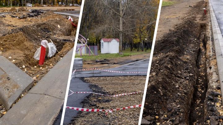 «Нет стройматериалов»: в Ярославле скандальный подрядчик не может доделать Юбилейный парк