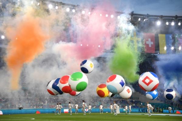 Яркая церемония открытия Евро-2020 состоялась на стадионе «Олимпико» в Риме