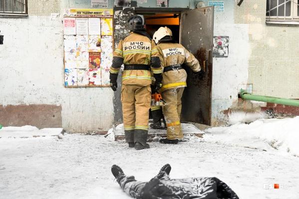 Пожар случился в квартире на втором этаже