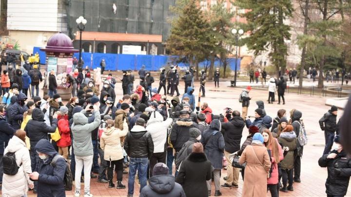Акция в поддержку Навального началась в Ростове