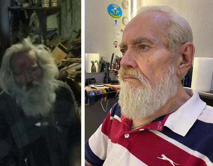 Затем пенсионера отвезли в парикмахерскую, где его привели в порядок