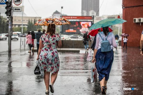В Новосибирске три дня будет лить дождь