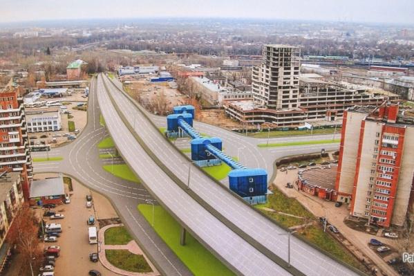 """Развязку и третий мост в Ярославле запланировали еще в <nobr class=""""_"""">70-х</nobr> годах"""