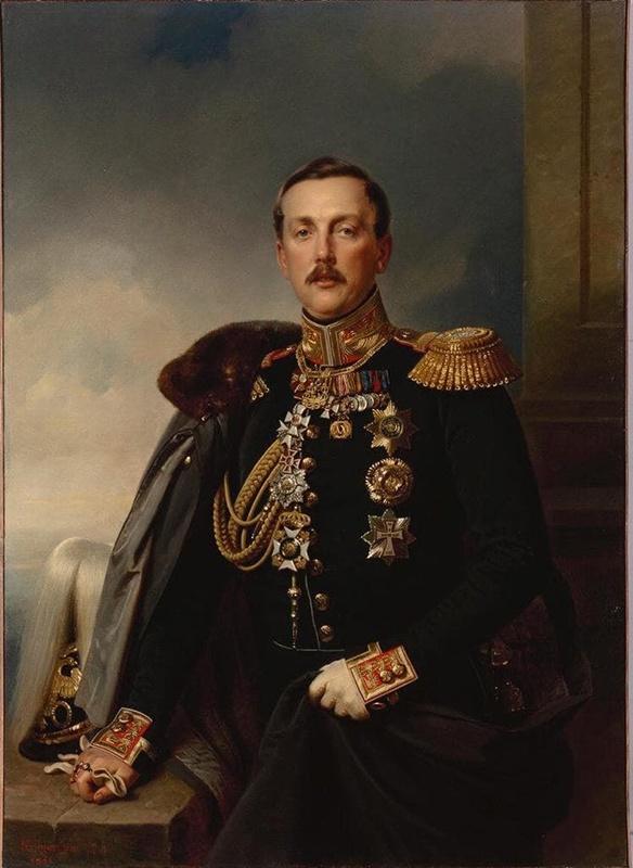 портрет внука генералиссимуса Суворова, князя, губернатора Риги